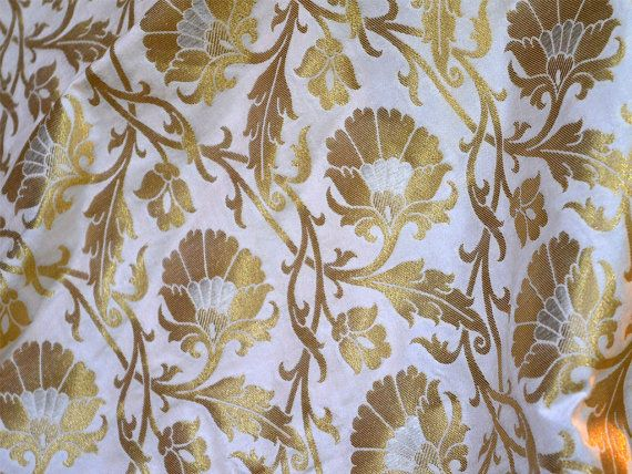 Dress Fabric Brocade Fabric by the yard in by Indianlacesandfabric