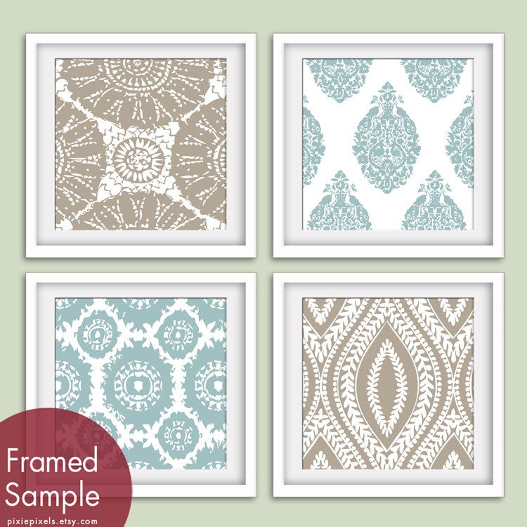Marine+Pattern+Prints+Collection+Series+B+Set+of+4++by+pixiepixels,+$47.85
