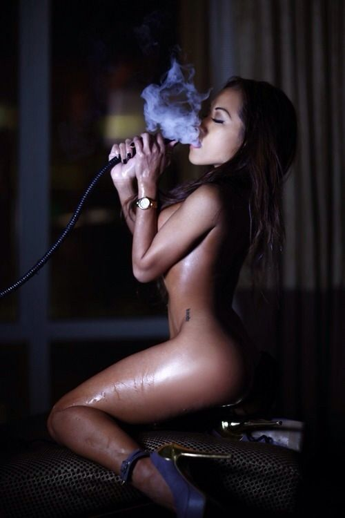 Sexy Bitches Smoking Weed Nude