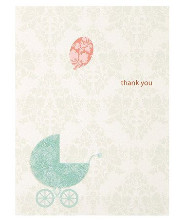 Love this Damask Carriage Thank You Note Set by C.R. Gibson on #zulily! #zulilyfinds