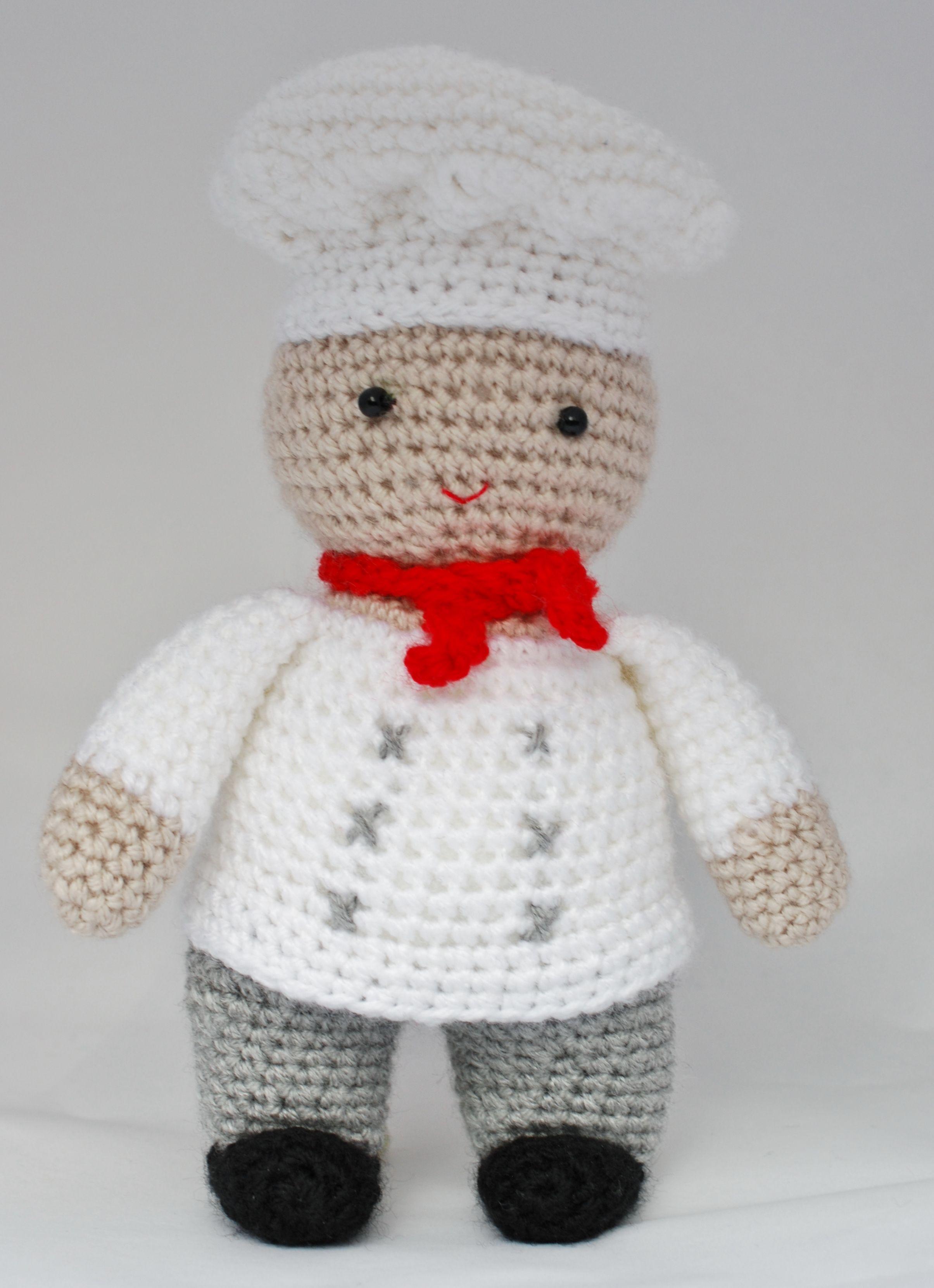 Amigurumi a Crochet Master chef, virkad mästerkock / mästerbagare ...