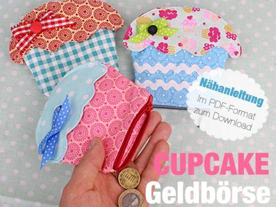 Nähanleitung Cupcake Geldbeutel nähen #weihnachtsmarktideenverkauf