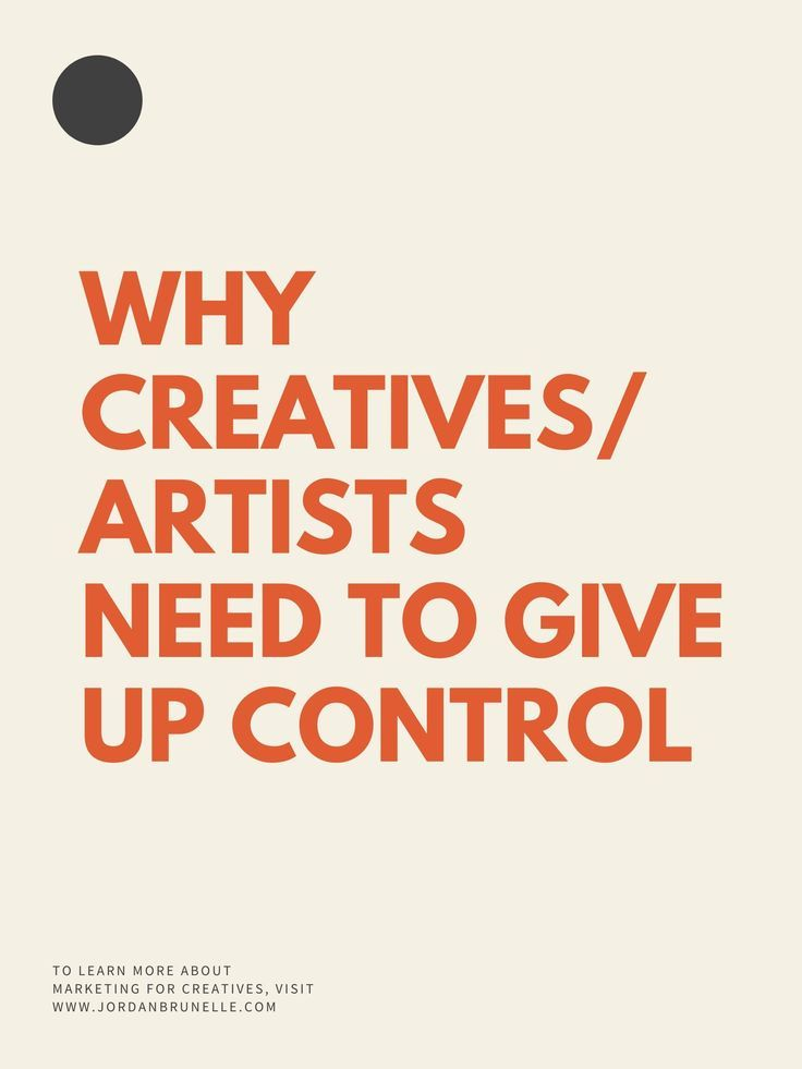 Whether you're a writer, a musician, an artist, or an entrepreneur, at some point your creative work is going to get personal. Because of that, creatives often think they need to maintain complete control of their work and how the world receives it. I believe letting go is more effective. Click to read the full post!! #marketing #creativity #creativeentrepreneurship #artistsuccess #writers #musicians