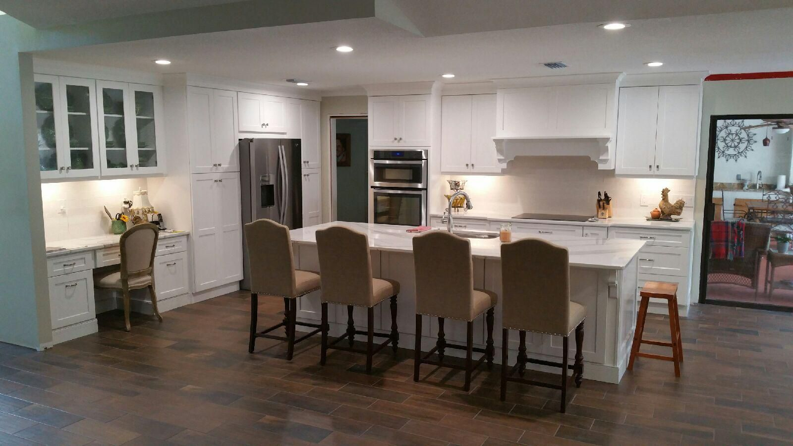 The bohrer kitchen after white shaker cabinetry daltile emblem 7 the bohrer kitchen after white shaker cabinetry daltile emblem 7 x 20 ceramic floor tile cambria quartz countertops in brittanica crossville cafe milk 3 dailygadgetfo Image collections