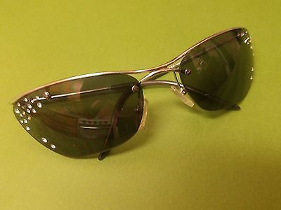 Authentic DIOR Flash/STR Cat Eye Silver w/Crystals Sunglasses YB7R7 62/18/115