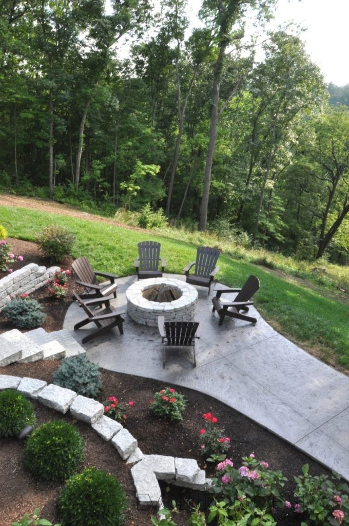 Homearama 2017 Day Three Backyard Fire Fire Pit Area Outdoor Fire Pit