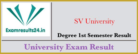SVU Degree 1st Sem Result 2019 [Manabadi] SV University