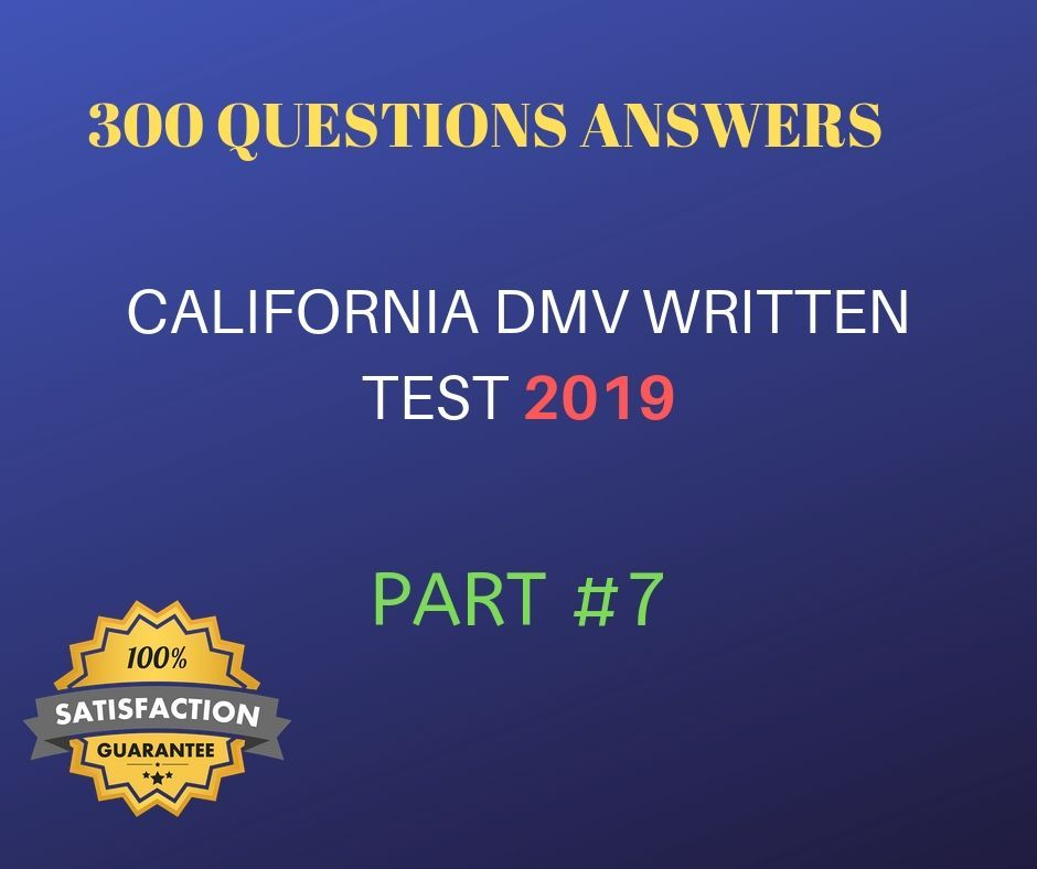 This California Dmv Practice Test Has Quite Recently Been