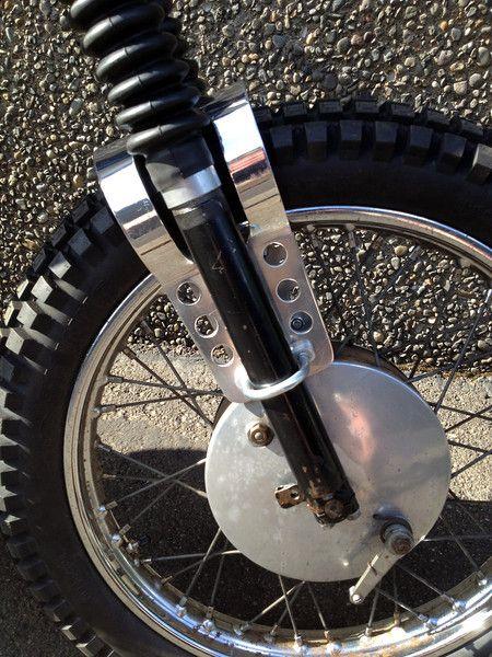 Fork brace, modified for my '63  | WHEELS | Desert sled