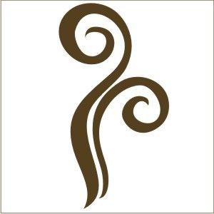 Coffee Swirl Decal | Vinyl Stencil-coffee theme, decals ...