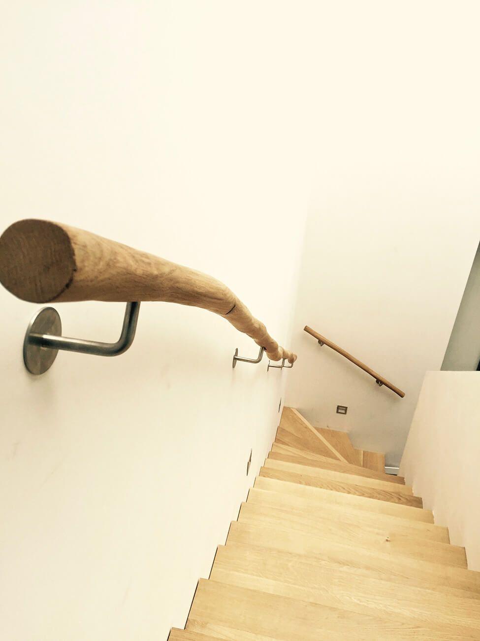 Natuurlijke houten trapleuning hallway pinterest for Houten trap behandelen