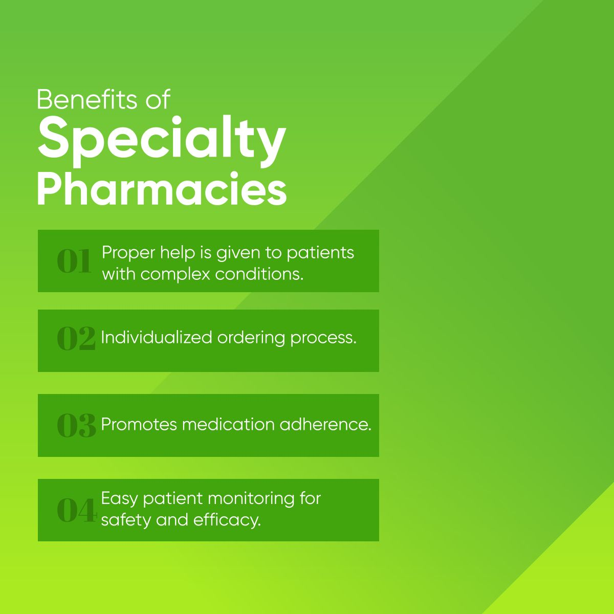 Benefits of specialty pharmacies specialtypharmacies