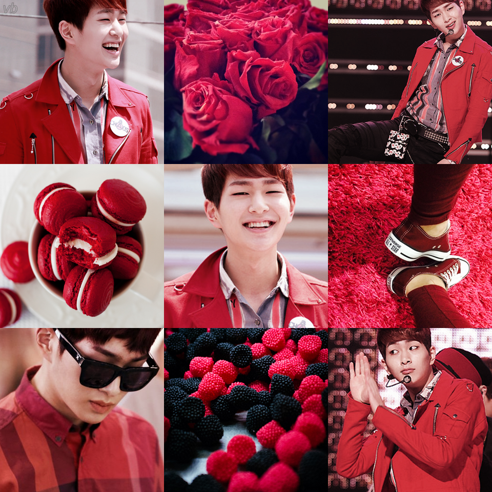 SHINee Onew Red Aesthetic by Victoria Bueno | ShinEE||Onew