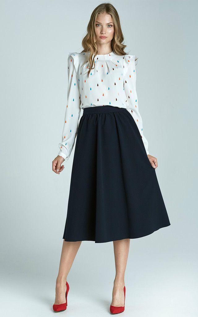 Midi Skirt Navy Vestiditos With Pinterest Ropa Pockets Falda Y PzqqxCdw5