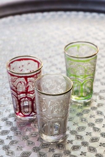 TRADITIONAL MOROCCAN TEA GLASS (SET OF 6) $35.00