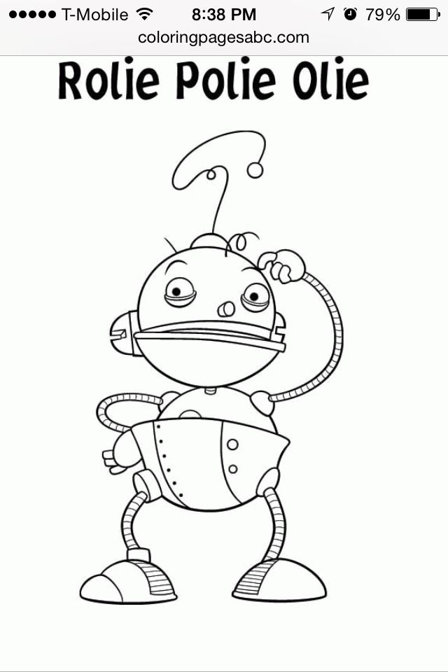 Rolie Polie Olie Embroidery Pinterest Coloring Pages
