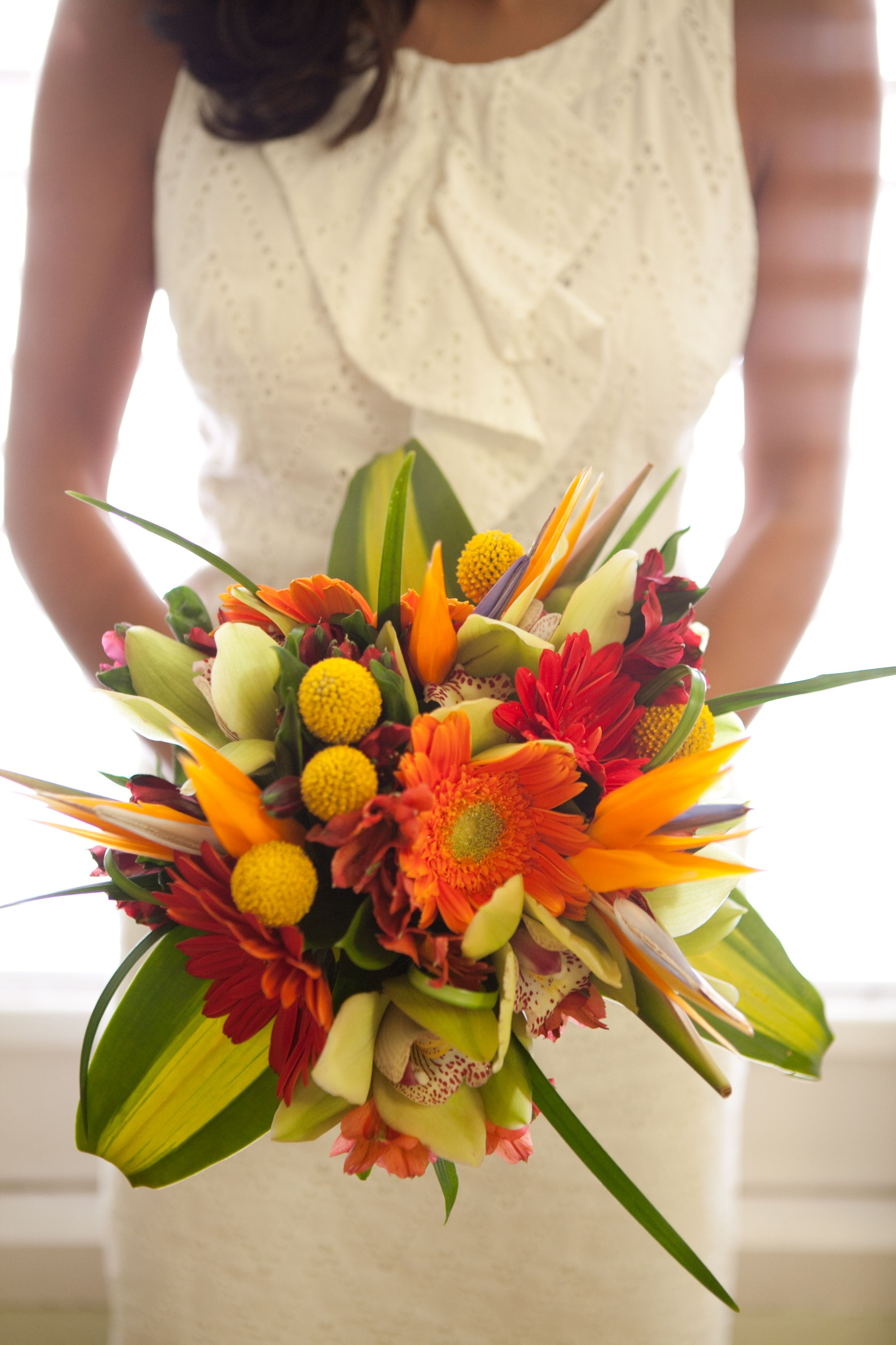 orange and yellow bouquet de fleurs de mariage wedding flowers orangebouquet orangewedding. Black Bedroom Furniture Sets. Home Design Ideas