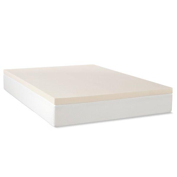 Select Luxury Rv 2 Inch Memory Foam Mattress Topper Overstock Com