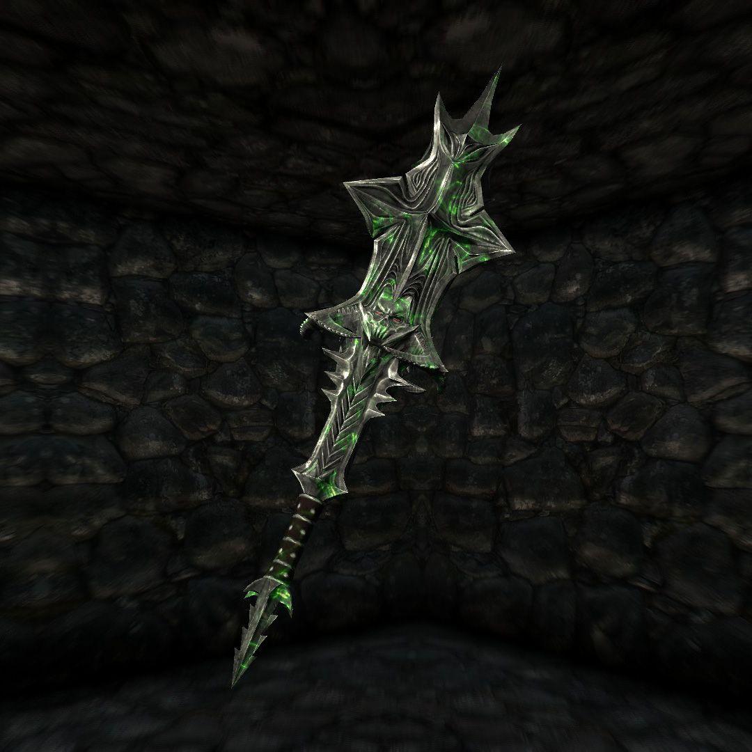 Mace Of Molag Bal Weapon Concept Art Arm Tats Mace