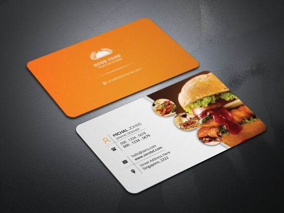 Restaurant business card by creative idea on creativemarket business card templates flashek Gallery