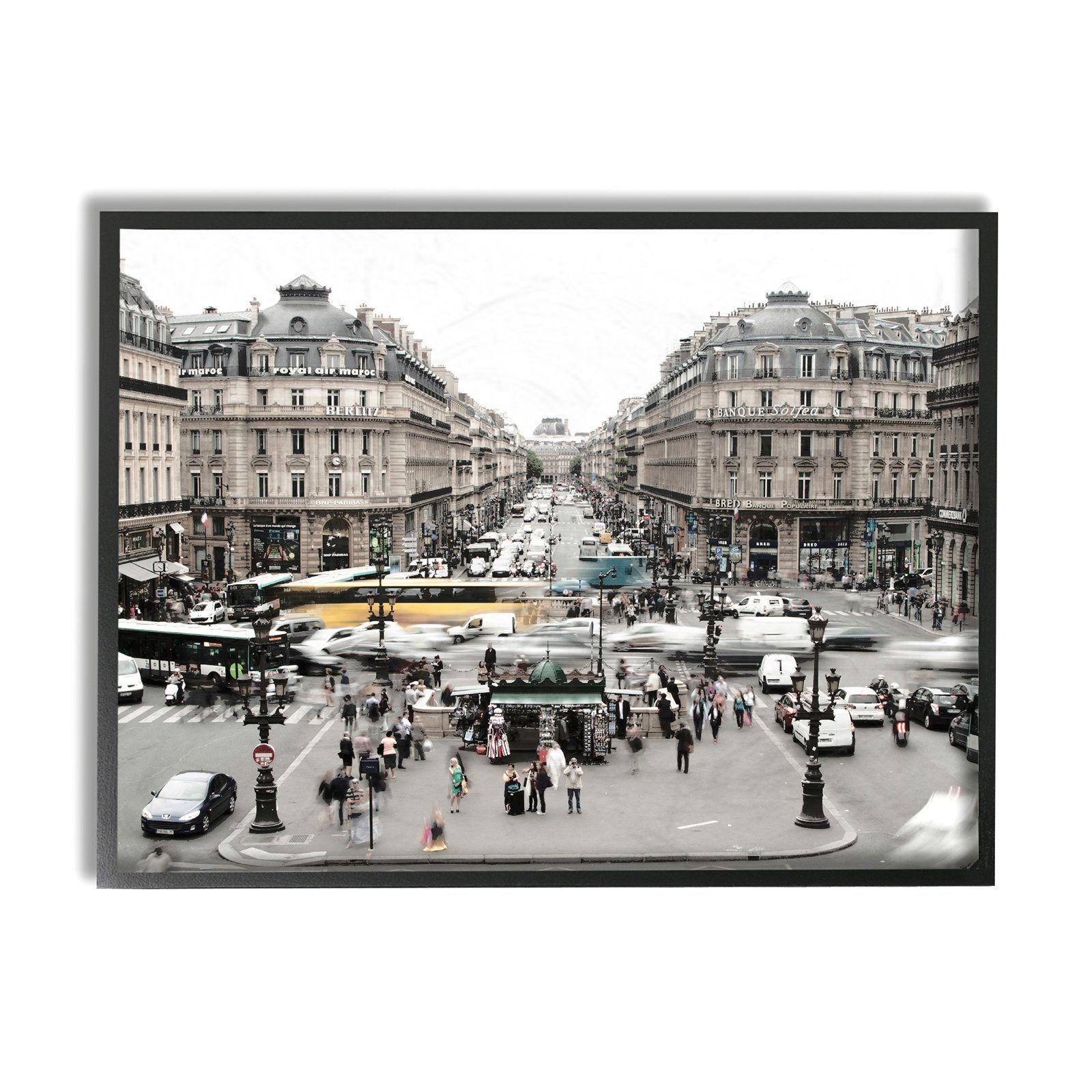 Stupell decor vintage paris textured photograph framed wall art