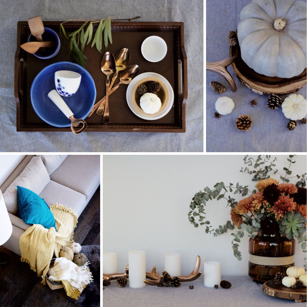 10 QUICK + SIMPLE WAYS TO TRANSITION YOUR HOME FOR THANKSGIVING