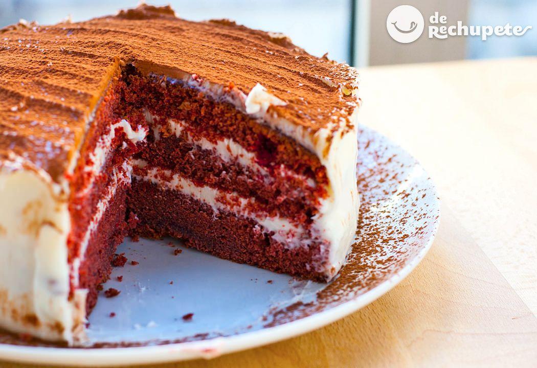 Red Velvet cake o Tarta terciopelo rojo - Recetasderechupete.com