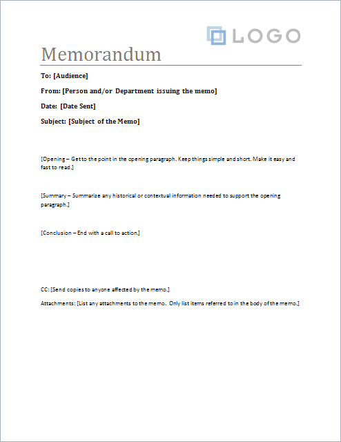 Download The Memorandum Template From VertexCom  Places To