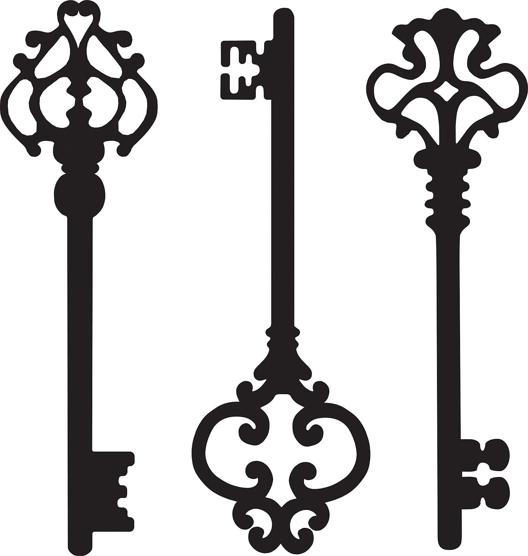 WallPops! Keys to my Heart Small Wall Art Kit   Gothic Chic ...