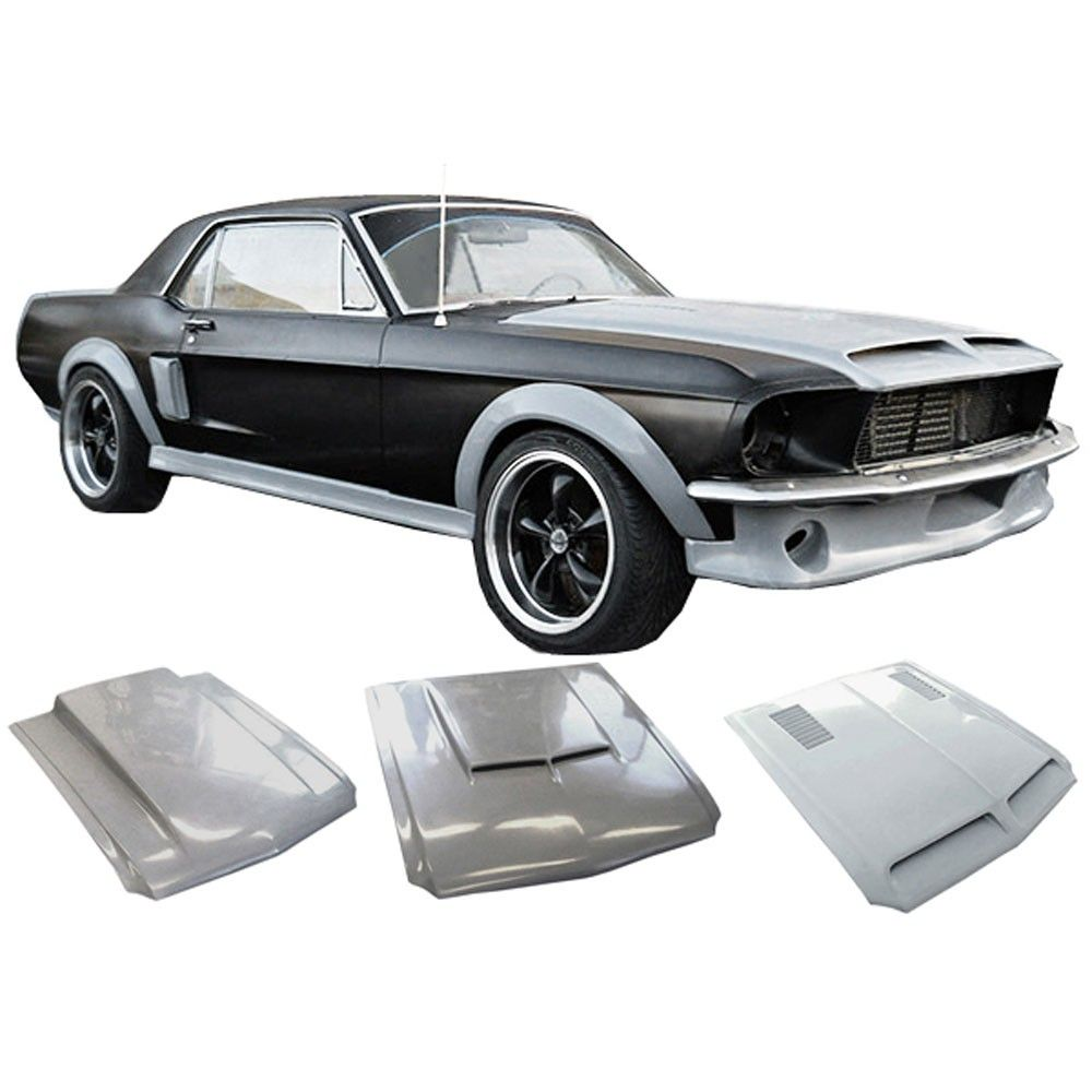 Body Kit Fiberglass Unpainted Coupe Convertible 1967 1968 Mustang Body Kit Body Kit 1968 Mustang Coupe