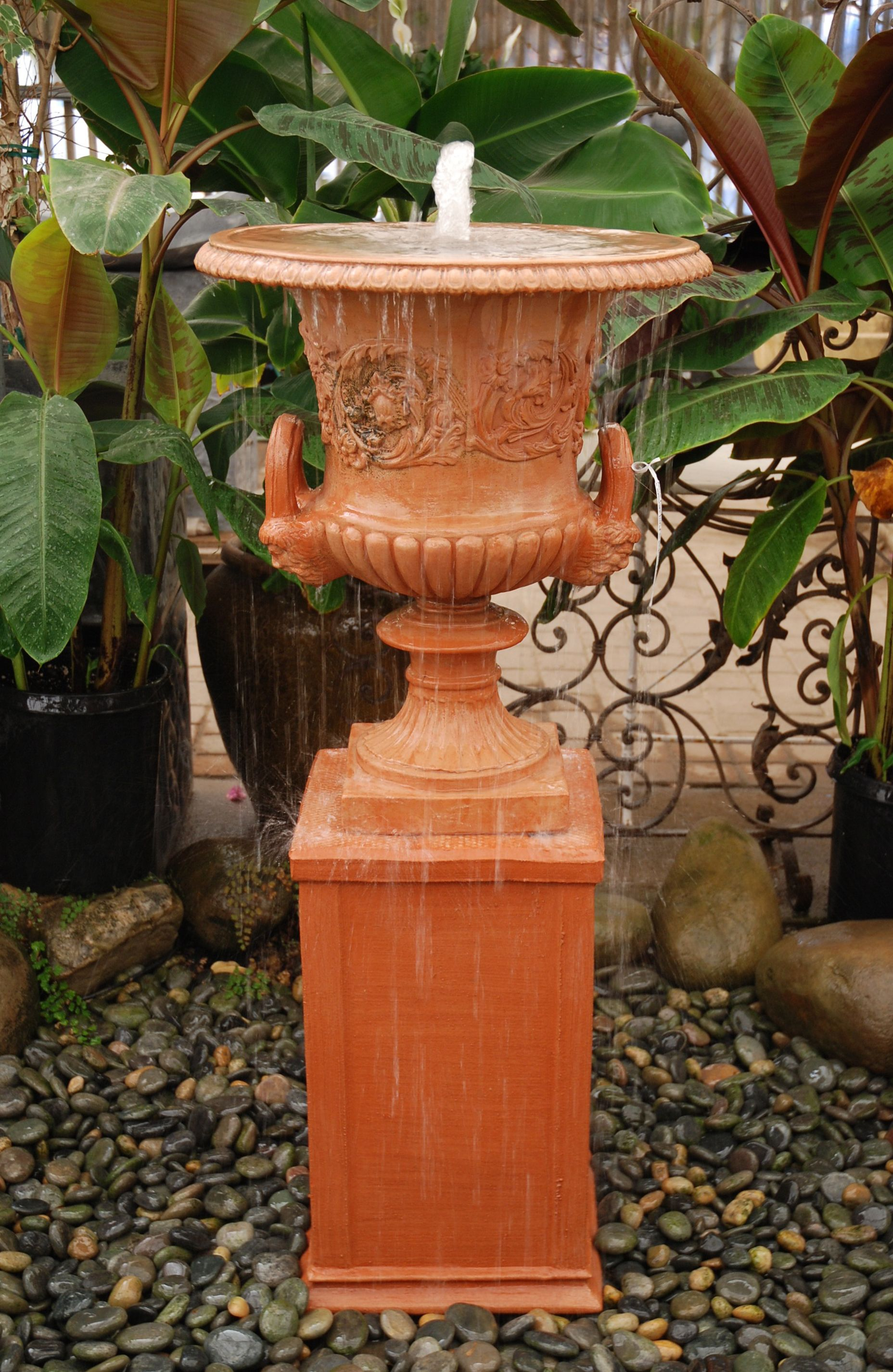 italian terracotta urn conversion we the Terracotta Water Fountain id=46120