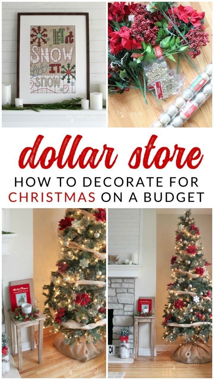 how to decorate a tree for under 20 using dollar store christmas decorations you wont believe how easy it is to make a beautiful tree on a small budget - Dollar Store Christmas Tree