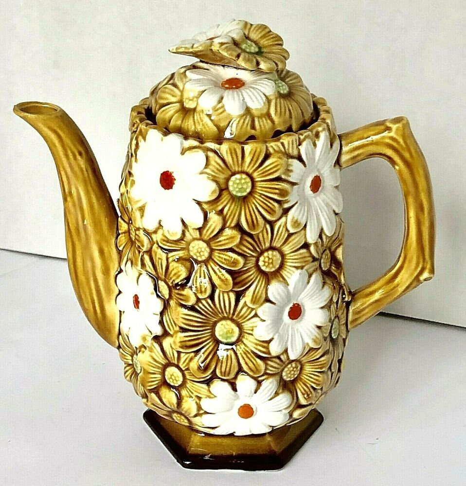 Vintage Ceramic Daisy Flower Coffee Pot Brown White Hand Painted 8 In 2020 Vintage Ceramic Coffee Pot Ceramics Deviantart is the world's largest online social community for artists and art enthusiasts, allowing people to connect through the creation and sharing. pinterest