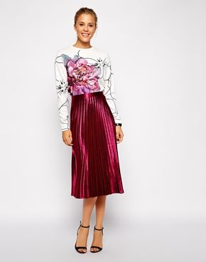 outlet online 100% authentic new lower prices ASOS Pleated Midi Skirt in Metallic | gowns in 2019 ...