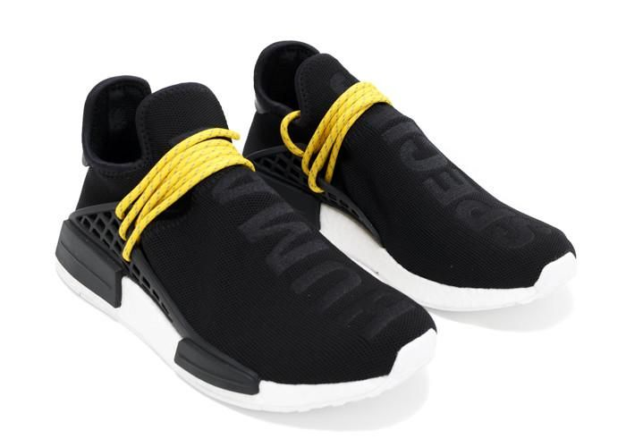 Get Nice NMD PW Human Race Black Yellow White with Free Shipping