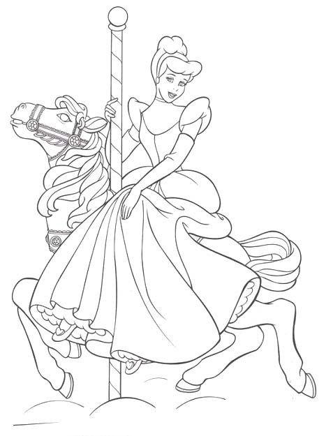 Princess Cinderella Ride Horse Coloring Pages Horse Coloring Pages Cinderella Coloring Pages Disney Princess Coloring Pages