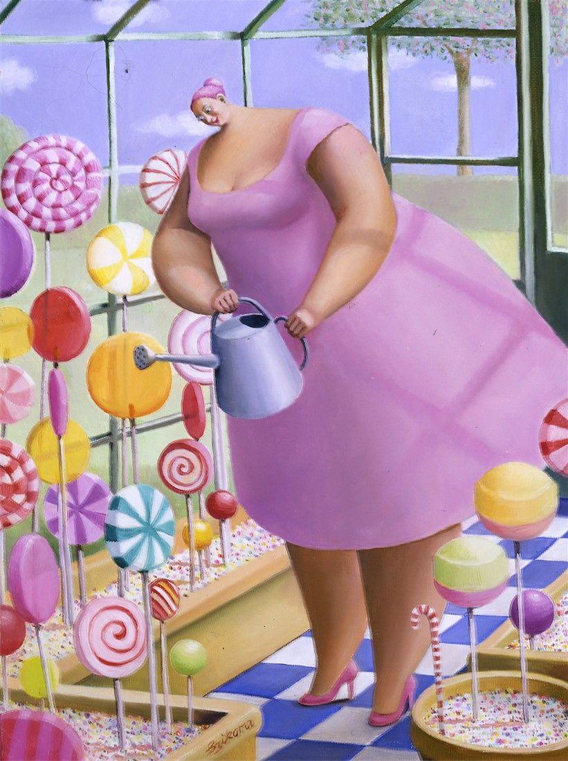 Днем рождения, прикольные картинки толстых женщин