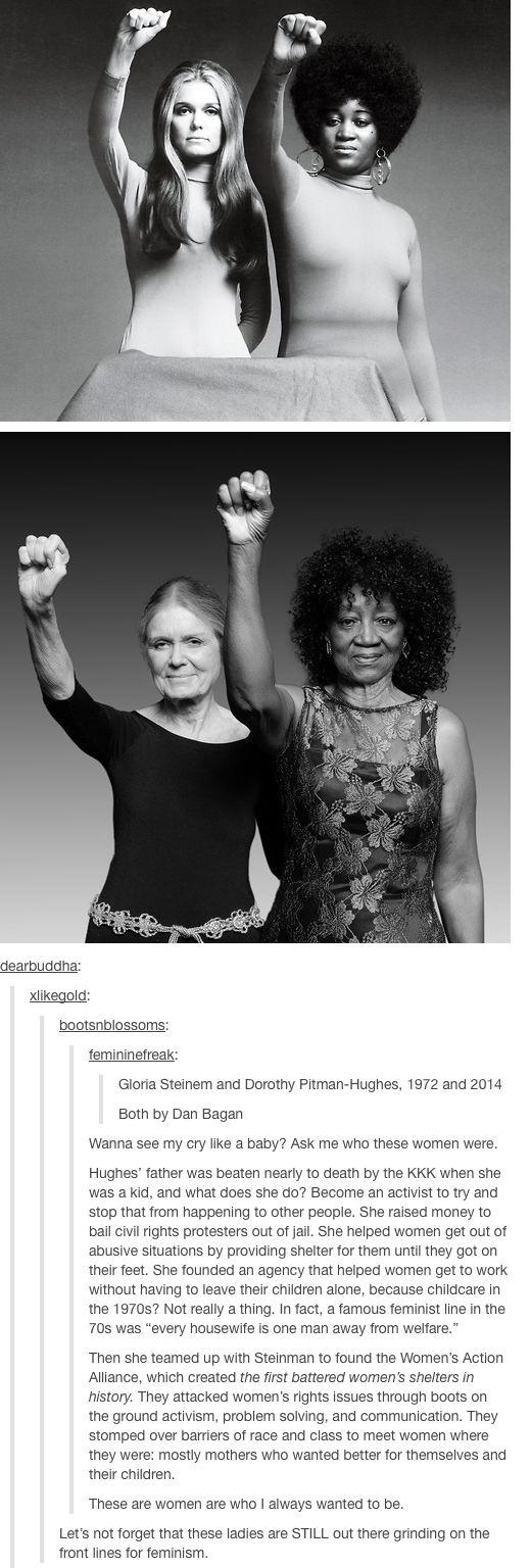 Gloria Steinem And Dorothy Pitman Hughes Wow At The Text