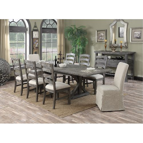 Charcoal 9 Piece Dining Set Paladin Collection Dining Room