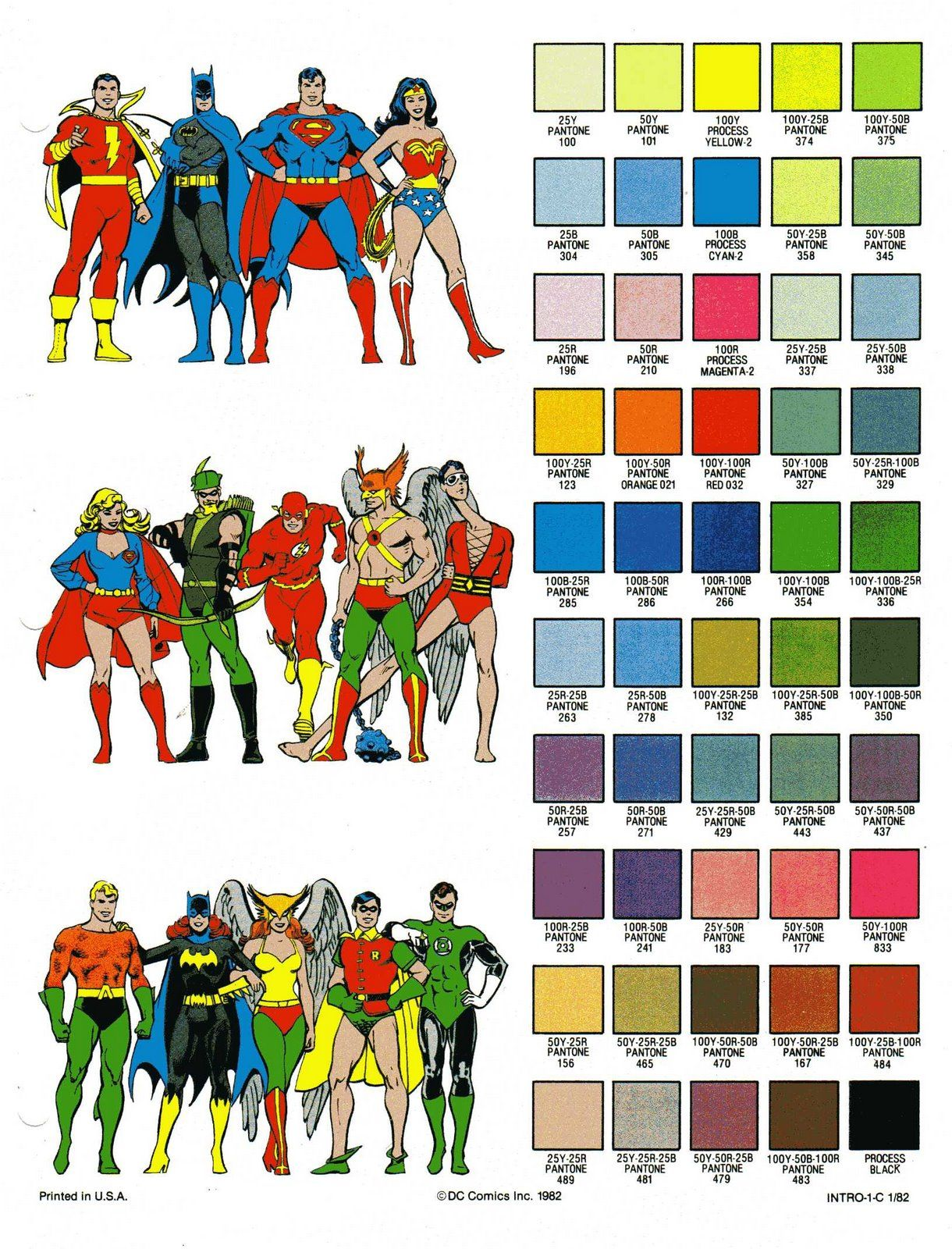 Book color scheme - Dc Color Matching Guide Wallpaper
