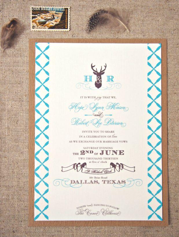 Antler deer wedding invitations via honeybeeinvites wedding antler deer wedding invitations via honeybeeinvites solutioingenieria Image collections