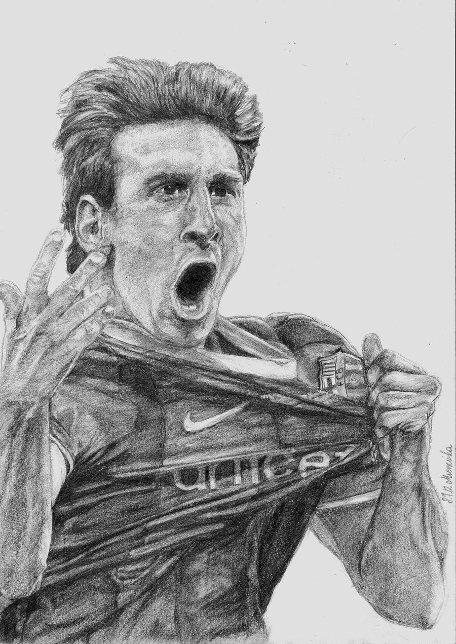 Lionel Messi 3 By Ejdlajn On Deviantart Lionel Messi Messi Football Paintings