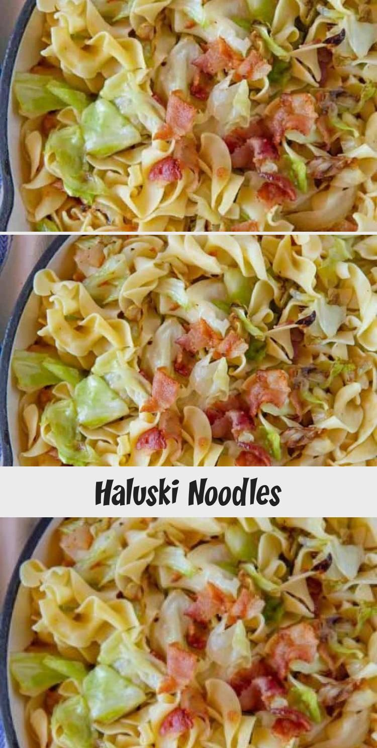 Haluski Noodles are the PERFECT one pot comfort food made from noodles cabbage and bacon sautéed on the stove in butter then finished in the oven ready in under 45...