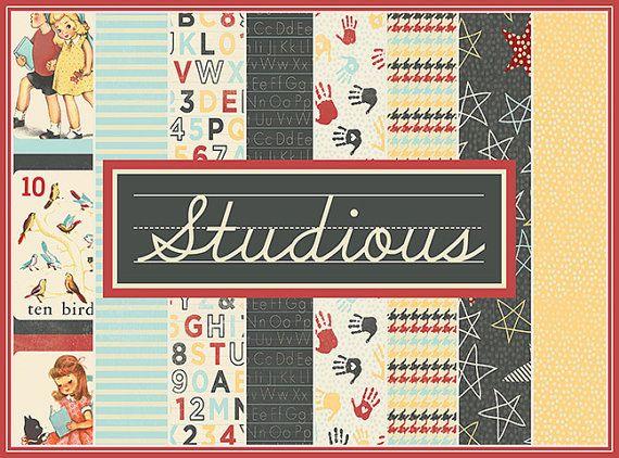 Authentique Paper Studious 12x12 Paper Set | Etsy