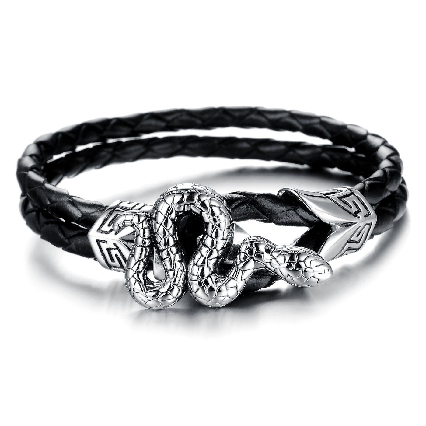 Fashion trendy wind creative personal snake man titanium steel