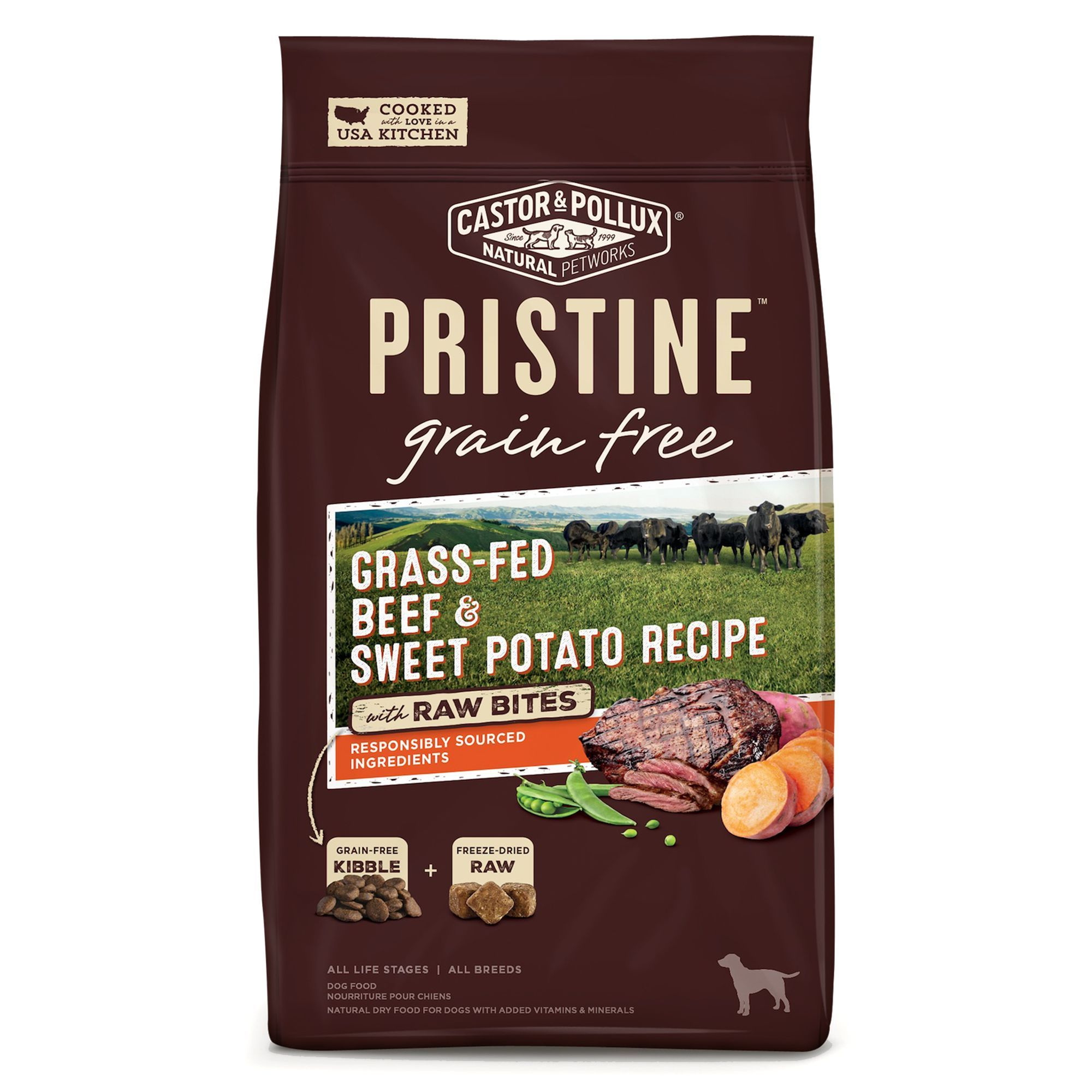 Castor and pollux pristine grain free with raw bites dog