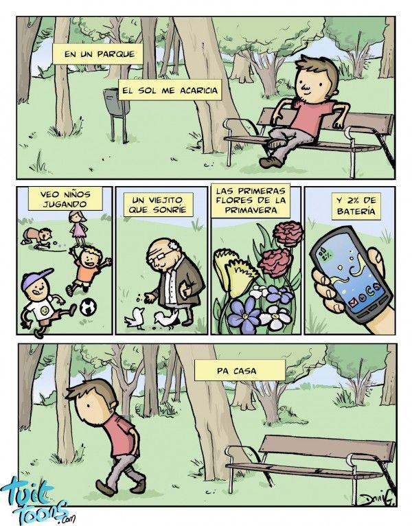 sintiendo la alegría de la primavera. Más #humor en www.lasfotosmasgraciosas.com
