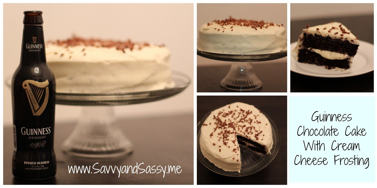 Savvy and Sassy: Guinness Chocolate Cake With Cream Cheese Frosting