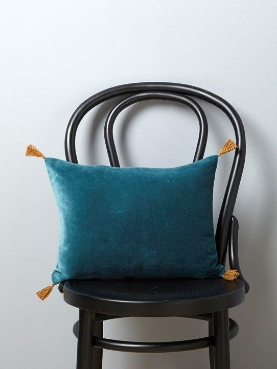 coussin cyrillus Housse de coussin en velours   Bleu+Bleu vert+Jaune+Rose   6  coussin cyrillus