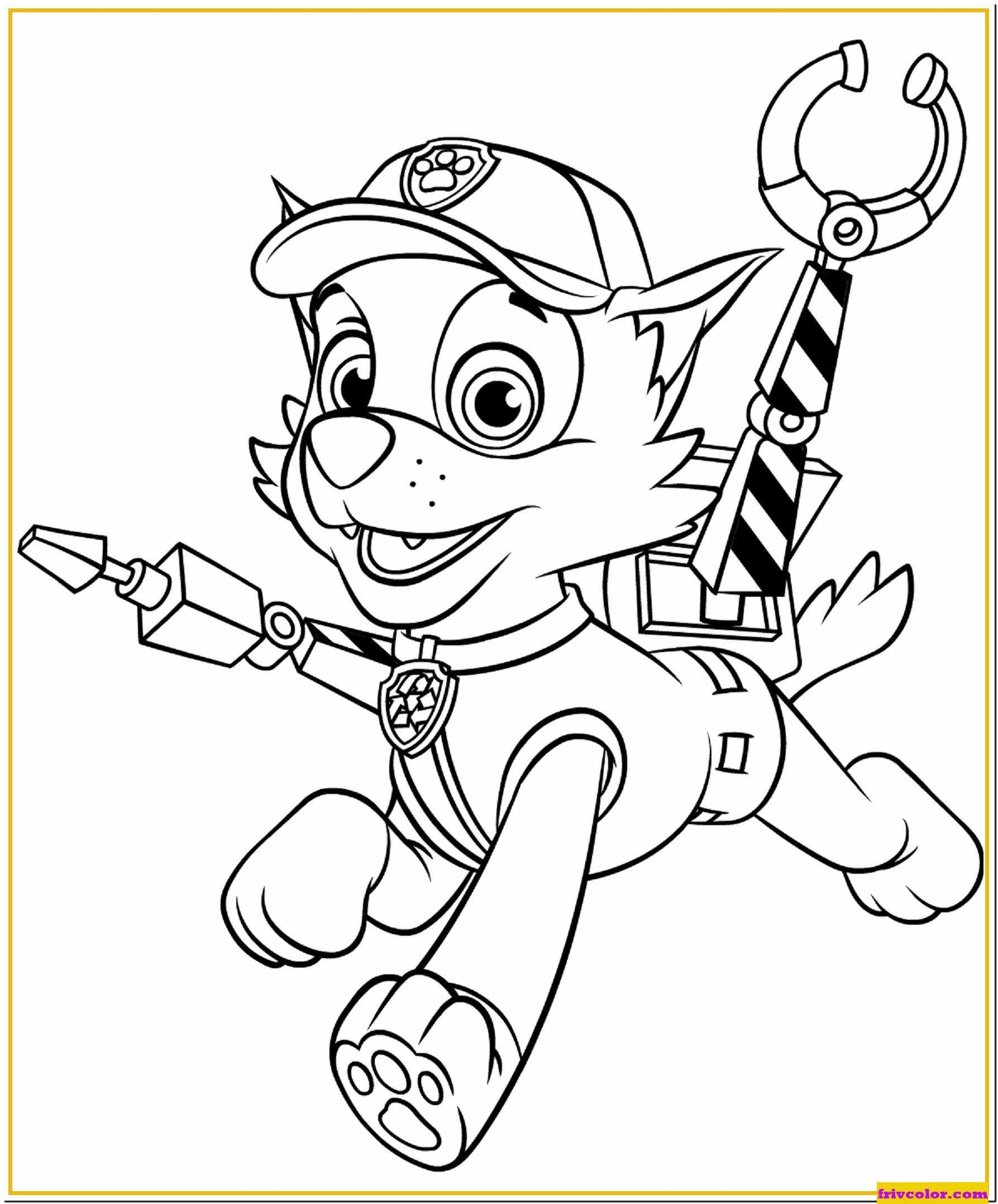 Paw Patrol Coloring Pages Rocky With Claws Paw Patrol Friv Free Coloring Pages For Paw Patrol Coloring Paw Patrol Coloring Pages Cartoon Coloring Pages